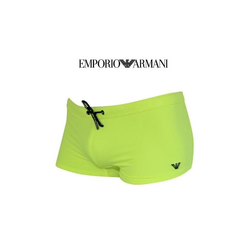armani maillot de bain jaune fluo 2111126 4p401 02560. Black Bedroom Furniture Sets. Home Design Ideas