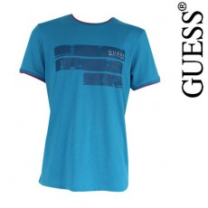 GUESS - T SHIRT EESSENTIAL NEW LAGOON COL ROND