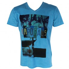 KAPORAL - T-SHIRT MANCHE COURTE KATEE TURQUOISE