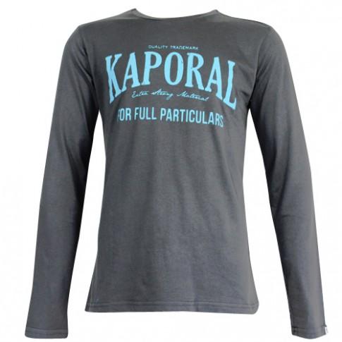 KAPORAL - T-SHIRT MANCHE LONGUE HOUPAE GRIS ANTHRACITE