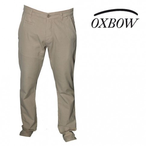 OXBOW - PANTALON EN LIN VEIZI COULEUR SABLE